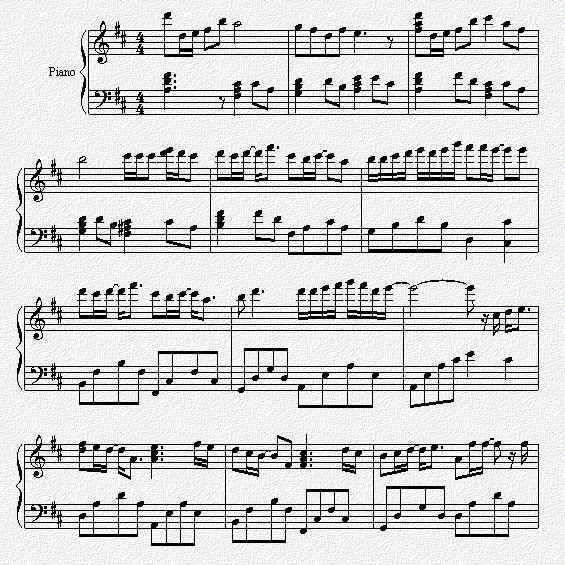 一千年以前(钢琴谱 五线谱)-林俊杰