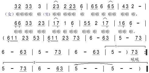 渡情古筝简谱