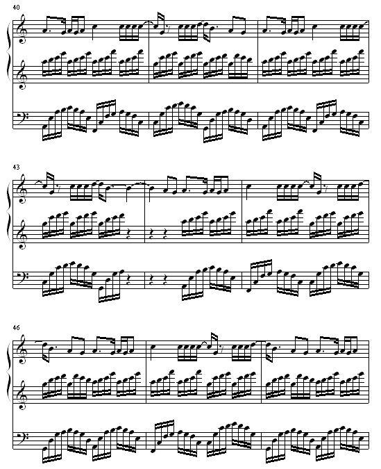天竺少女竹笛谱子-上帝是个女孩 钢琴谱