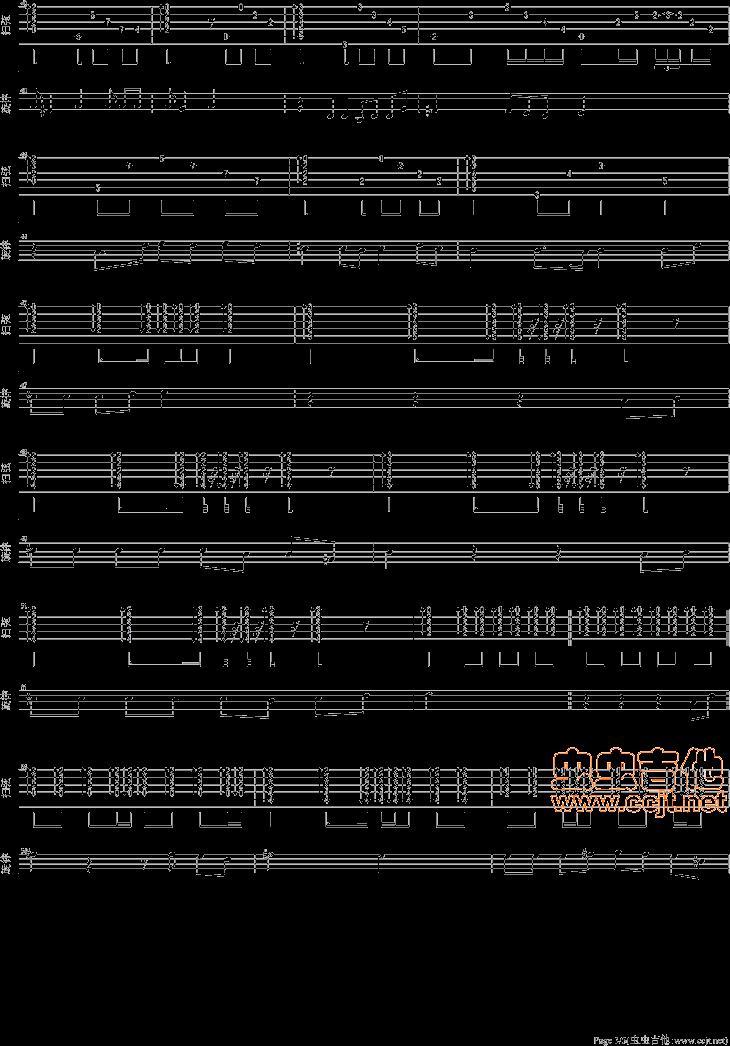 我的将军啊钢琴曲简谱-如何将钢琴谱改编成吉他谱