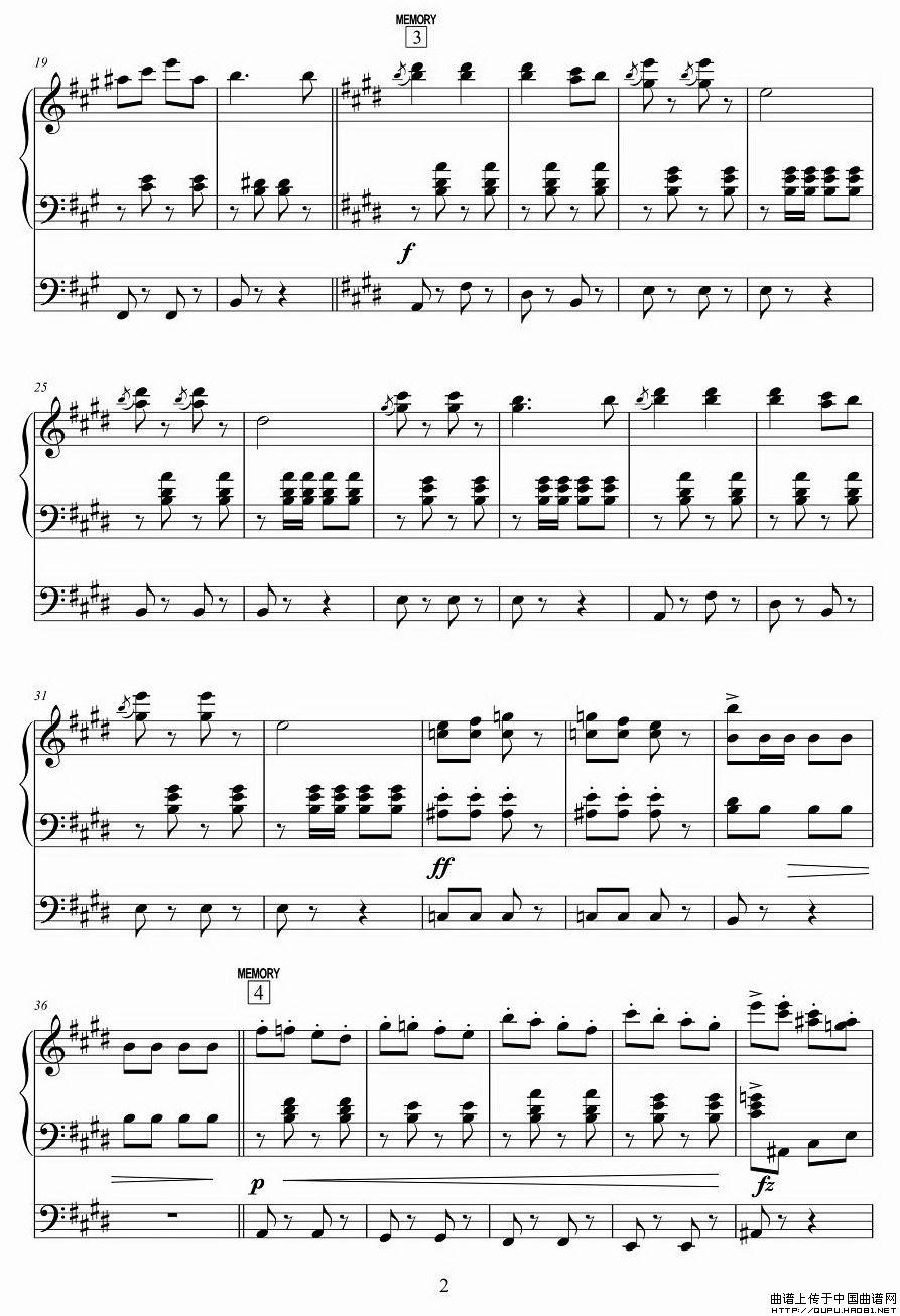 闲聊波尔卡 电子琴谱