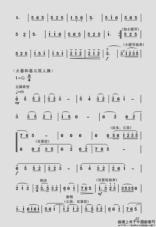 歌谱我是一条小河荀谱-女 全剧主旋律乐谱之第一场 深仇大恨