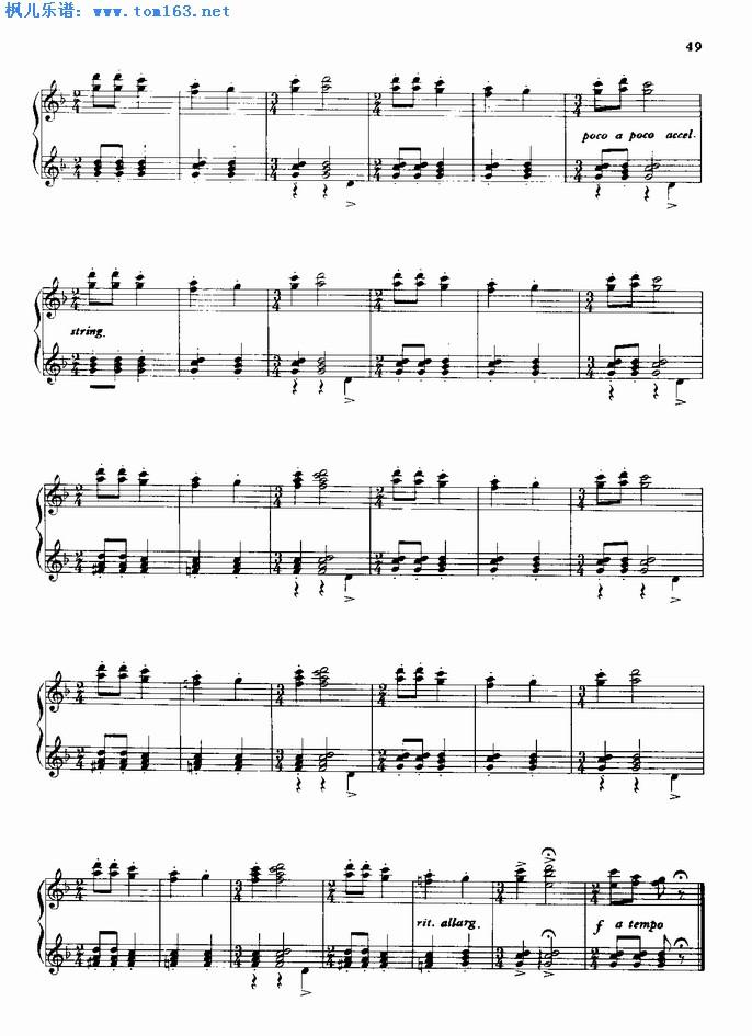 苏格兰舞钢琴曲曲谱-二人舞 钢琴谱
