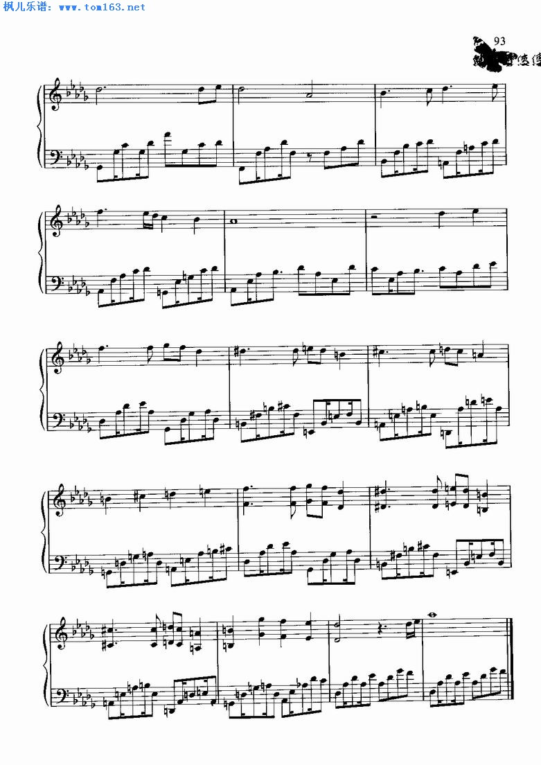 超越时空的思念曲谱数字全-航行 选自 穿越时空 电子琴谱