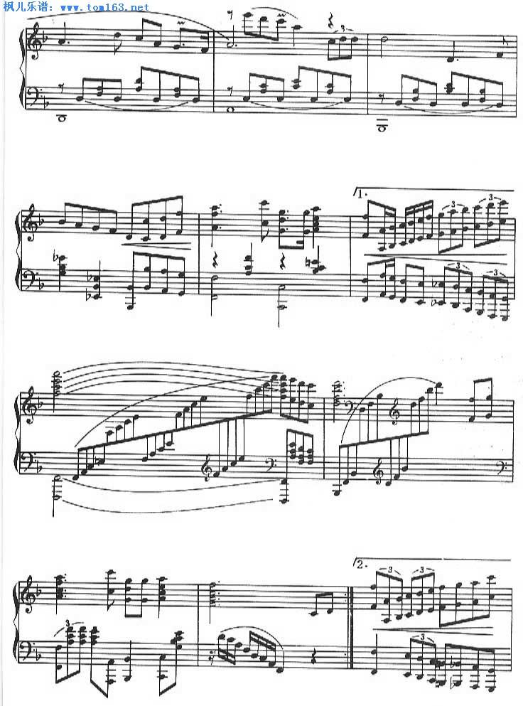 我爱你中国 五线谱/我爱你中国 钢琴谱五线谱