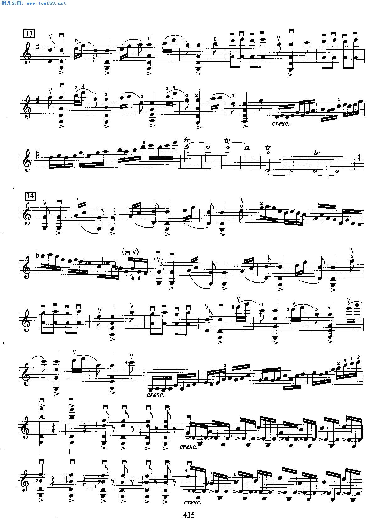梁祝-黄安源二重奏谱-梁山伯与祝英台协奏曲 小提琴谱