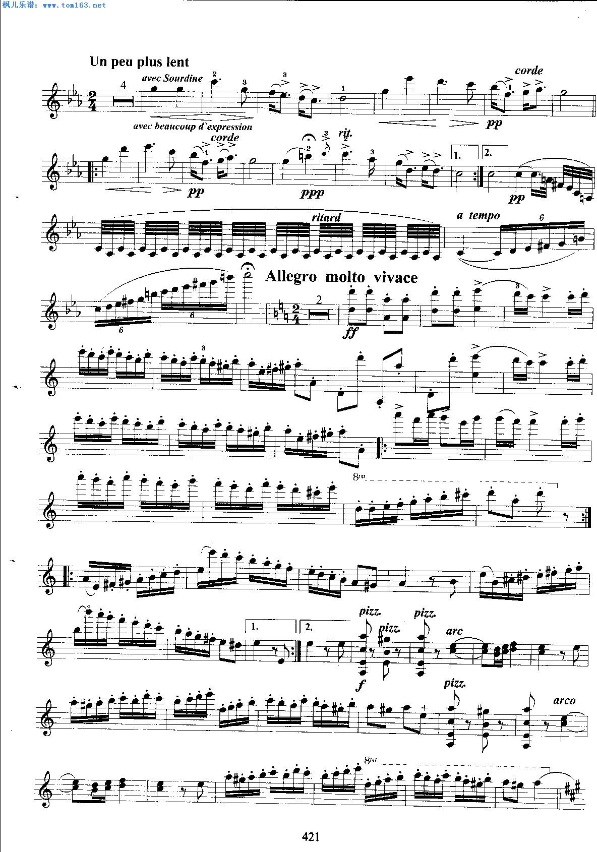 枫儿乐谱 乐谱库 乐器演奏乐谱 小提琴曲谱 >> 正文:流浪者之歌