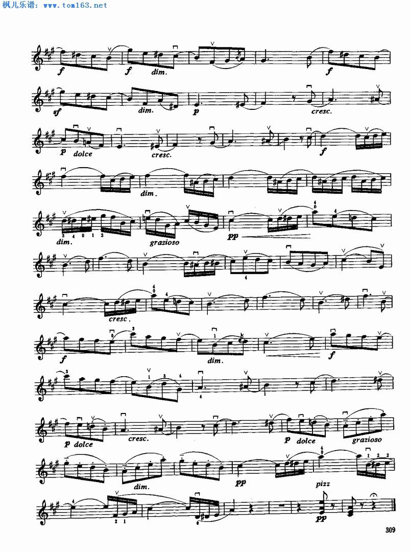 枫儿乐谱 乐谱库 乐器演奏乐谱 小提琴曲谱 >> 正文:春之歌