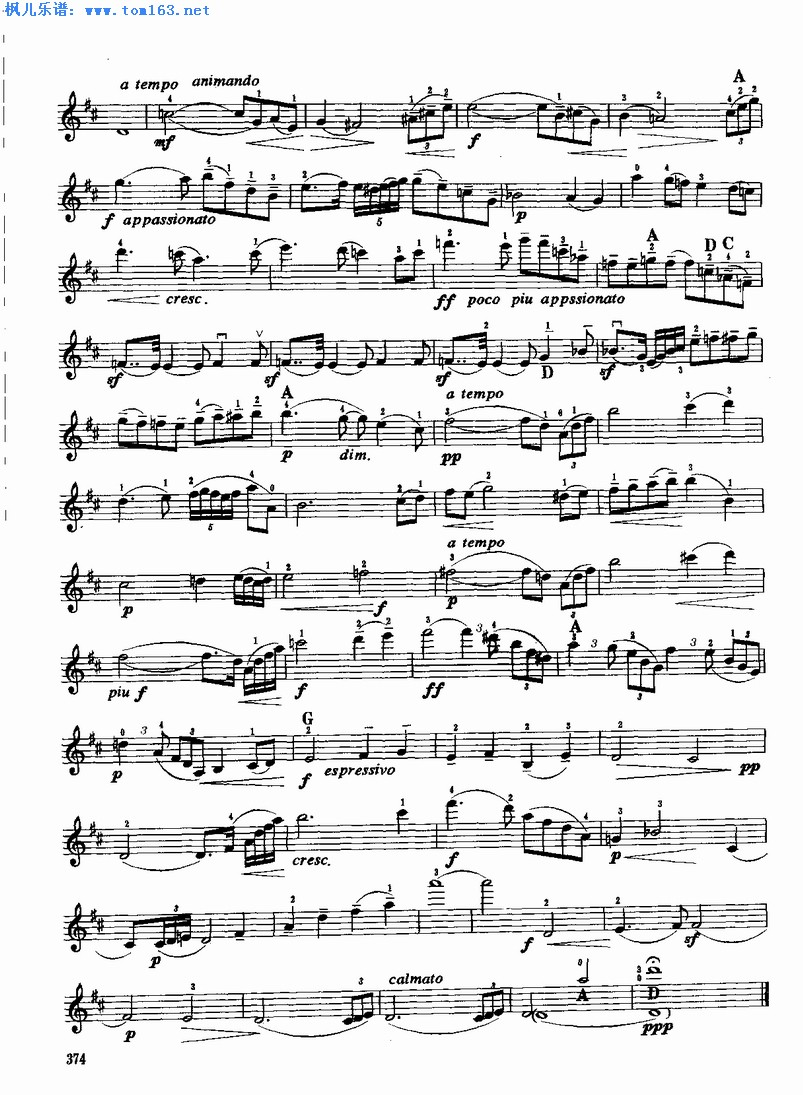 沉思(选自歌剧《泰伊思》)小提琴谱