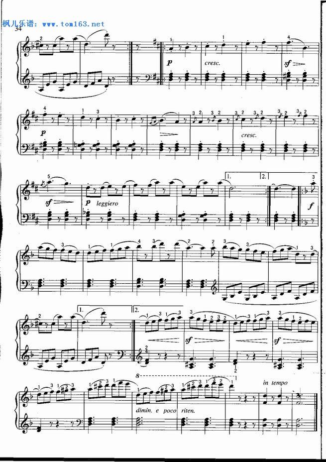 巴赫小步舞曲弦乐四重奏谱子